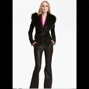 Rachel Zoe Nadia Faux Fur Collar Jacket 0